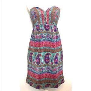 Maple Anthro 100% Silk Paisley Dress Size 2